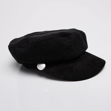 Calling All Corduroy Hat - Black