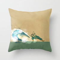 Avatar Korra Throw Pillow by Leesherv
