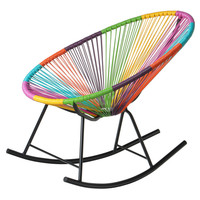 PoliVaz Mayan Hammock Acapulco Rocking Chair, Multicolor