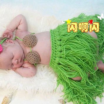 Tropical amorous feelings Newborn babysuit crochet Newborn photo props photography