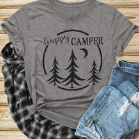 Happy Camper, Pine Trees.  T-Shirts