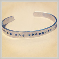 Pure Aluminum Cuff Bracelet with Dave Matthews Band Lyrics