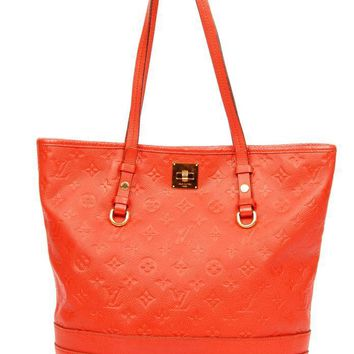 Louis Vuitton Red Leather Empreinte Citadine Tote 5506