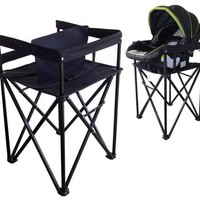 Hollett Dual-Mate Travel Highchair and Infant Carrier Stand