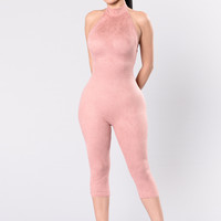 Shattered Glass Jumpsuit - Blush