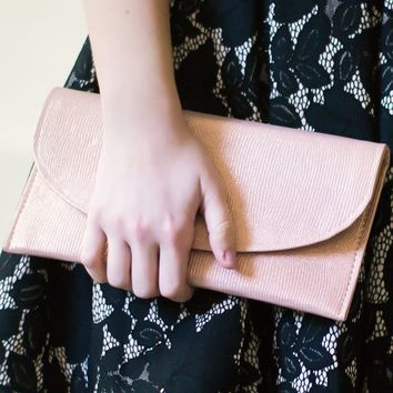 Rose Gold Wallet Clutch
