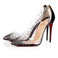 Christian Louboutin Cl Degrastrass Pvc Version Black Strass 18s Special Occasion 1180603cm47