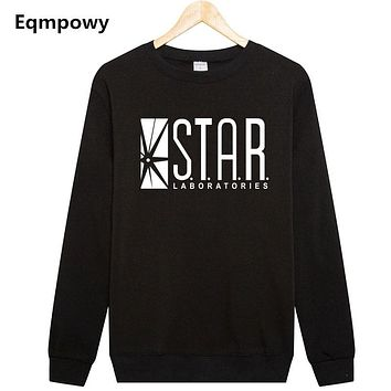 Eqmpowy Flash Barry Allen Star Lab Labs Black Color Mens Sweatshirt Men Novelty hoodies Pullover 2017 Male Clothes Arrow Friend