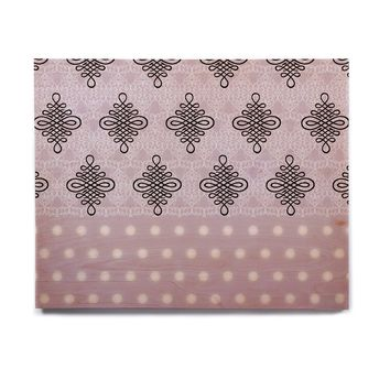 "NL designs ""Lavender Damask And Polkadot"" Purple Lavender Damask Polkadot Digital Illustration Birchwood Wall Art"