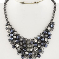 Charcoal Bold Beads Necklace