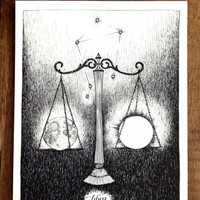 Wild Unknown Libra Zodiac Print