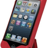 MAPi Cases Orion For iPhone 5 - Flip Style Leather Smartcase, Folding Cover Stand Design, Red