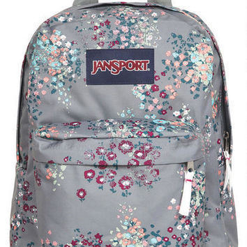 Jansport® Grey Floral Backpack - Multi