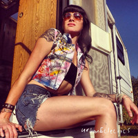 Urban Eclectics — Graffiti Studded and Spiked Vest