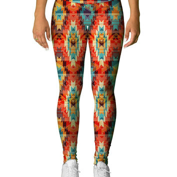 Aztec Red Leggings