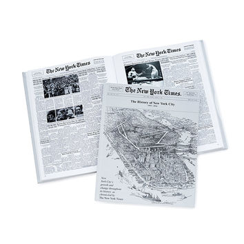 New York Times - The History of NYC Book | Newspaper Headline Book