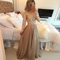 New Women Summer Fashion Sexy Elegant Formal Dress Party Print Long Dress = 1931970052