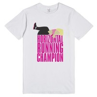 Horizontal Running Champion Shirt-Unisex White T-Shirt