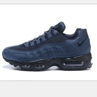 NIKE AIR MAX treading Man sports shoes sneaker navy blue-black soles H-CSXYQGCZDL-CY