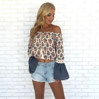Clive Off Shoulder Top