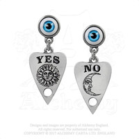 Alchemy Gothic Ouija Planchette Earrings Occult