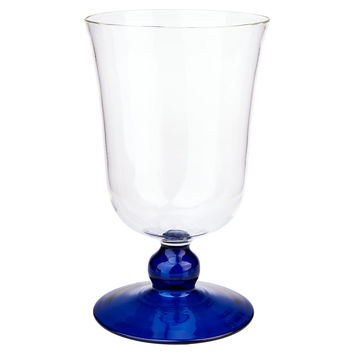 Turkish Footed Glass, Blue, Tumblers, Water & Juice