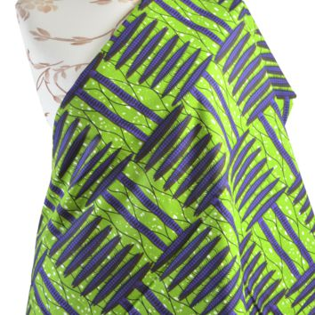 Green African print  by yards