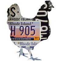 Rhode Island License Plate Hen