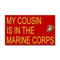 Sticker: My Cousin Is In The Marines