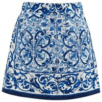 Dolce & Gabbana Blue and White Majolica Skirt | AlexandAlexa