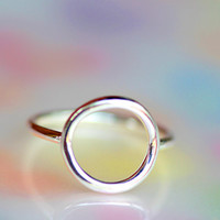 925 sterling silver CIRCLE LOVE RING