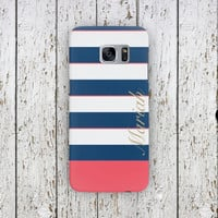 Striped Custom Personalized Case iPhone 7, iPhone 7 Plus, 6S, 5S, 4S, SE, 5C Samsung Galaxy S7 Edge, S6, S5, S4