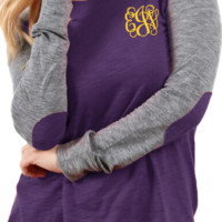 MONOGRAMMED PLUS SIZE PREPPY PATCH TEE