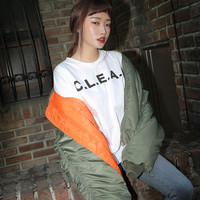 Loose CLEAN Print T-Shirt