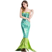 ilishop Summer Cosplay Halloween Party Clothing Game Uniforms Mermaid Costume Strapless gown Vestido De Festa Sexy Dress