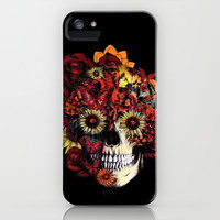 Full circle...Floral ohm skull iPhone & iPod Case by Kristy Patterson Design