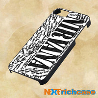Nirvana all member and song titles collage For iPhone, iPod, iPad and Samsung Galaxy Case