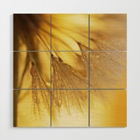 Dandelion Light Wood Wall Art by tanjariedel