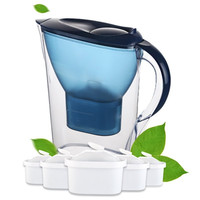 2.5L Household Water Kettle Straight Drink Alkaline Water Pitcher  Jug Bottle Kitchen Purifier