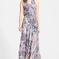 Women's Haute Hippie Print Silk Halter Wrap Dress