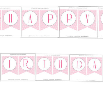 Ice Skating Happy Birthday Banner: INSTANT DOWNLOAD
