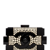 Limited Edition Pearl Encrusted Lego Clutch/Shoulder Bag by Chanel at Gilt
