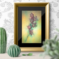 Unique Floral Fine Art Print on WaterColor Paper. Colorful Floral Art , Contemporary Photography Wall Decor Unique Abstract Artwork