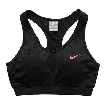 NIKE Casual Gym Sport Yoga Embroidery Print Vest Tank Top Cami