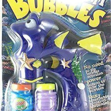 Lighted Novelty Fish Dory & Nemo Bubble Gun Bubbles Included Battery Operated