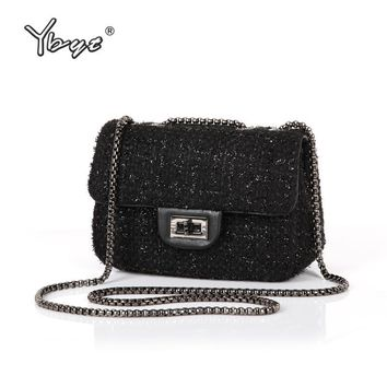 2ed22ad2be2a YBYT brand 2017 new fashion joker wool women s flap hotsale ladi. Item  Type  Handbags ...