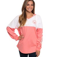 Southern Shirt Company V-Neck Hoodie in Pink Salmon 2J003-45