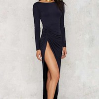Lioness Found Love Slit Dress - Navy