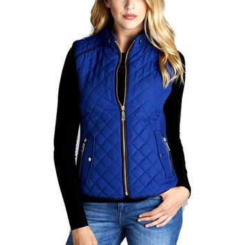 Quilted Padded Vest, Royal