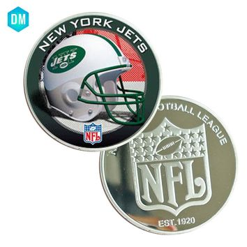 Collectible Souvenir Gifts US Football Team NEW YORK JETS NFL 999.9 Silver Plated Metal Coin Festival Gifts